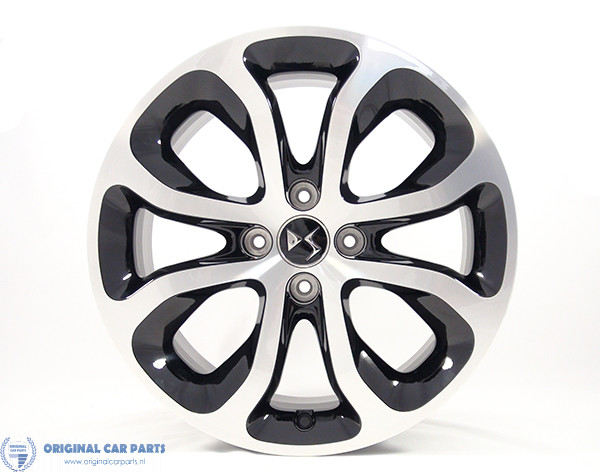 Citroën Clover 17 4 Holes Wheels Glossy Black Polished