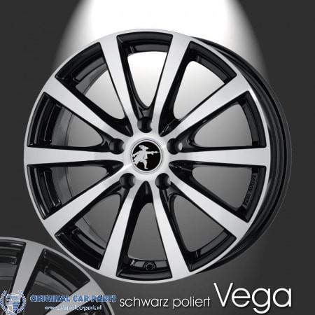 Musketier Peugeot 407 Lichtmetalen Velg Vega 8x19 Zwart