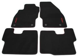 Opel Corsa E vloermatten zwart / rood 13440226