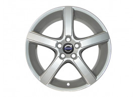 "Volvo C30 / S40 / V40 / V50 alloy wheel ""Midir"" 7.5 x 18"" Silver Bright (Incl. wheel cover) 30760052"