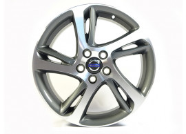 "Volvo C30 / S40 / V40 / V50 alloy wheel ""Spider"" 7 x 17"" Diamond cut/Dark Grey (incl. wheel cover) 31414011"