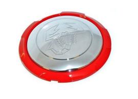51895377 Abarth naafkappen chroom-rood
