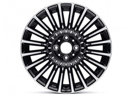 "52014013 Fiat 500/500c lichtmetalen velg 16"" Bicolore zwart / chroom"