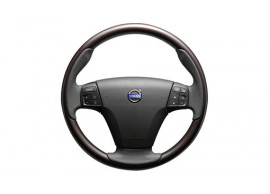 Volvo C30 / C70 / S40 / V50 steering wheel, sport, wood polished finish 30741539