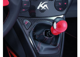 ford-ka-09-2008-2016-gear-lever-knob-sunrise-red-with-black-leather-insert 1714261