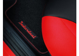 ford-ka-09-2008-09-2012-floor-mats-premium-velours-front-black-with-red-stitching 1558522