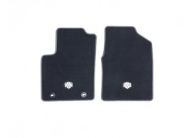 ford-ka-09-2008-09-2012-floor-mats-premium-velours-front-black-with-white-stitching 1558526