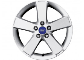 ford-alloy-wheel-17-inch-5-spoke-design-silver-machined-front 1476108