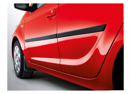 1J461ADE10 Hyundai i20 3-drs (2012 - 2015) mud flaps kit, protective, front