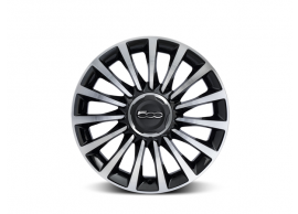 "Fiat 500L set lichtmetalen velgen 17"" diamantglans zwart 50927092"