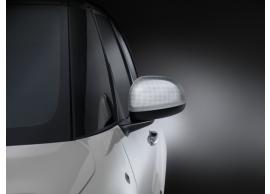 Fiat 500L spiegelkappen aluminium Techno-motief 50927036