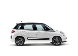 Fiat 500L raamlijststicker antraciet & zilver met 500-logo 50927030