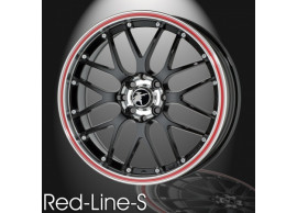 musketier-citroën-c1-peugeot-107-toyota-aygo-2005-2014-lichtmetalen-velg-red-line-s-7x16-zwart-rand-gepolijst-rode-rand-C144713B