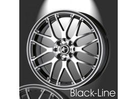 musketier-citroën-c3-lichtmetalen-velg-zwart-line-7x17-zwart-gepolijst-zwarte-rand-C3S345014BP