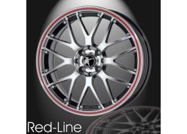 musketier-citroën-c3-lichtmetalen-velg-red-line-7x17-zwart-gepolijst-rode-rand-C3S345011BP