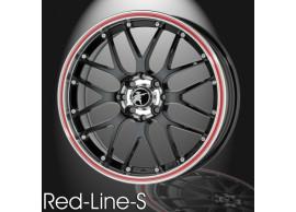 musketier-citroën-c3-lichtmetalen-velg-red-line-s-7x17-zwart-rand-gepolijst-rode-rand-C3S345011B