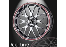 musketier-peugeot-208-lichtmetalen-velg-red-line-7x17-zwart-gepolijst-rode-rand-20845011BP