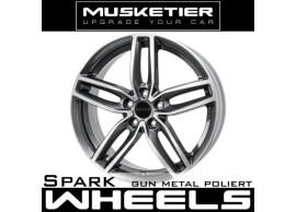 musketier-peugeot-4008-lichtmetalen-velg-spark-8x18-gun-metal-gepolijst-40088828GMP