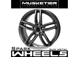 musketier-peugeot-4008-lichtmetalen-velg-spark-8x19-gun-metal-40089812GM