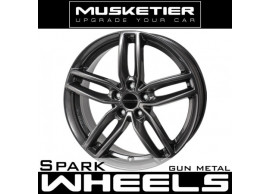 musketier-peugeot-607-lichtmetalen-velg-spark-8x18-gun-metal-6078828GM