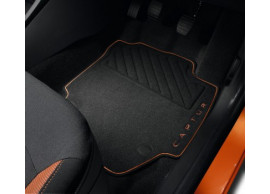 Renault Captur vloermatten premium orange (RHD) 8201394372