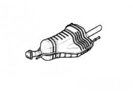 Opel Astra G sedan exhaust 1.6 up to 2003