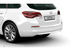 Opel Astra J Sports Tourer OPC-line rear bumper spoiler 2012 - 2015 with detachable towbar with chromed exhaust