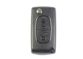 103B Peugeot klapsleutelbehuizing met 2 knoppen