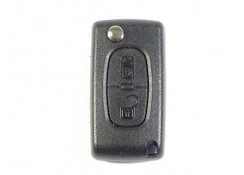 PEU103A Peugeot klapsleutelbehuizing met 2 knoppen