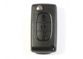 citroen-folding-key-housing-with-3-buttons-without-battery-on-the-printed-circuit-board-107A