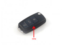 Volkswagen klapsleutelbehuizing met 3 knoppen