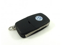 VW108 Volkswagen klapsleutelbehuizing met 3 knoppen (oud model)